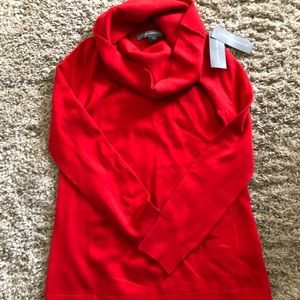 NWT Baby Soft Cowl Neck Red Sweater